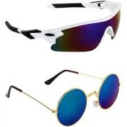 Zyaden Combo of 2 Sunglasses Sport and Round Sunglasses- COMBO 2788