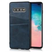 XIANYUNDIAN-PHONE CASE Exquisita caja del teléfono Compatible con Samsung Galaxy S10 Plus carpeta del cuero de casos, retro sintético PU Funda de piel cubierta a presión con 2, los titulares de Cubierta de cuero