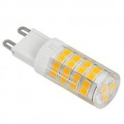 LED lámpa , égő , kukorica , G9 foglalat , 5 Watt , 320° , hideg fehér