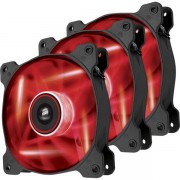 Ventilator Corsair CO-9050083-WW, 3 buc, 120 mm, LED Rosu (Negru)