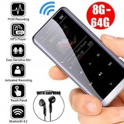 Alician Wireless Bluetooth Reproductor MP3 HiFi Sport Altavoces Mini MP4 Media FM Radio Grabador Accesorios Electrónicos SZXAS-ZQ-0606PEL_0B8IL19Z