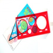 6th Dimensions 3 Design Classic Spiral Ruler Spirograph Art Tool for Kids Fun - Gift