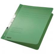 Dosar din carton, incopciat 1/1, 250 g/mp, verde, LEITZ