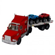 Toy Semi Truck Car Carrier for Kids and Boys with Toy Trucks