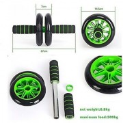 Unique Cartz Unisex Double Wheel UNISEX AB Abdominal Roller with Knee Mat