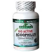 Acidofilus Bio-Activ cu Pectina, FOS si Inulin 100 capsule