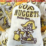 Gold Nuggets Original Bubble Gum Sweets