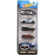 Hot Wheels, 2016 Series, Batman V Superman: Dawn of Justice Movie 5-Pack