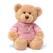 """Enesco Its A Girl 7.5"""" Bear Plush"""