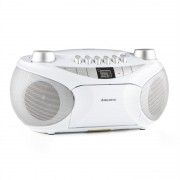 Majestic AH-2387 CD WH Boom Box Radio Recorder MP3 USB FM (AH2387WH)