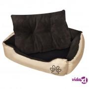 vidaXL Topli krevet za pse s podstavljenim jastukom M [nid:2847008]