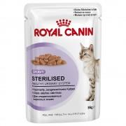 Royal Canin ração para gatos 24 x 85 g - Pack económico - Sterilised em Molho