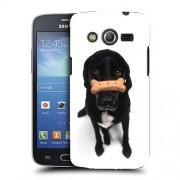 Husa Samsung Galaxy Core 4G LTE G386F Silicon Gel Tpu Model Black Puppy