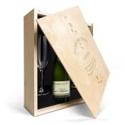 YourSurprise Coffret champagne avec 2 flûtes - René Schloesser (750 ml) - Couvercle gravé