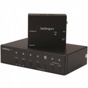StarTech.com Alargador HDBaseT DisplayPort, VGA y HDMI con Conmutador Incorporado4KExtensor HDMI por Cable UTP Cat5 o Ca
