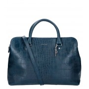 LouLou Essentiels Handtas Bag Vintage Croco Blauw