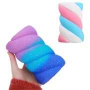 Marshmallow Squishy 14.5CM Slow Rising Squeeze Toy Rainbow Cotton Candy Stress Gift