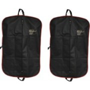 PRAHAN INTERNATIONAL Men's Coat Blazar Cover Bag Suit cover Pack of2 PIS-C2B027(Black)