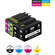 Merkloos – Inktcartridge / Alternatief voor de HP 932 XL 933 XL voor HP Officejet 6100 6600 6700 7110 7610 7612 / Hoge Capaciteit - 5 Pack