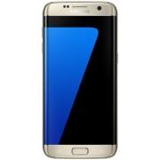 "Telefon Mobil Samsung Galaxy S7 Edge, Procesor Octa-Core 2.3GHz / 1.6GHz, QHD Super AMOLED Capacitive touchscreen 5.5"", 4GB RAM, 32GB Flash, 12MP, 4G, Wi-Fi, Dual Sim, Android (Auriu) + Cartela SIM Orange PrePay, 6 euro credit, 4 GB internet 4G, 2,000 min"