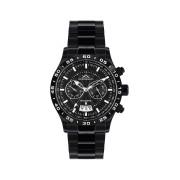 【85%OFF】410-H Air Tracer IP schwarz ラウンド ウォッチ ブラック ファッション > 腕時計~~メンズ 腕時計
