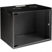 Комуникационен шкаф MIRSAN SOHO, 535 x 300 x 350 мм, D=300 мм / 7U, черен, за стена