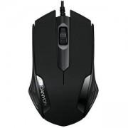 Мишка Canyon CNE-CMS02B, оптична (1000 dpi), USB, черна, CNE-CMS02B
