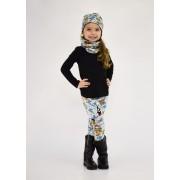 Dívčí zimní vyteplená čepice Šmoulové