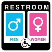 Pro Image Unique Unisex Bathroom Sign, Sexy and Modern Restroom Signage for Office, Restaurant Night club or any Store – 8†x 8â€Â