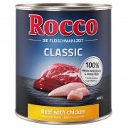 Pack % - Rocco Classic 24 x 800 g - Vacuno con pollo