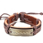 Bratara barbati handmade amuleta aurie