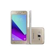 Smartphone samsung Galaxy J2 prime TV 16GB Dourado dual chip android 6.0 tela 5 8MP 4G