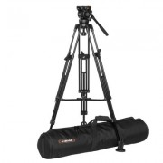 E-Image EG-05A2 ( EG05A2 ) Kit Aluminum Video Tripod + GH05 Professional Fluid Head / 190 CM