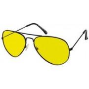 Peacock Mundkar Aviator Sunglasses(Yellow)