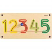 Aplicatie de perete Numere 1-5 Beleduc, lemn