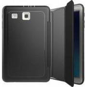 Husa Samsung Galaxy Tab E 9.6 T560 T561 flip cover activa pliabila cu 3 straturi protective negru