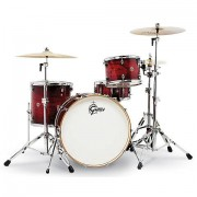 "Gretsch Drums Catalina Club 24"""" Gloss Crimson Burst Drumset Batería"""