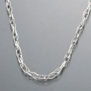 純PT ホロー デザインチェーン ロング ネックレス【QVC】40代・50代レディースファッション