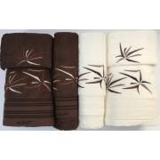 Set de 6 prosoape baie Valentini Bianco Brown