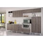 Cozinha Completa Art In Móveis Mia Coccina c 12 Peças CZ44 - Cor Branco c Rústico