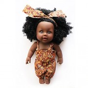 Nice2You African American Doll Lifelike 12 Inch Baby Dolls for Kids Children Toys (Style 1)