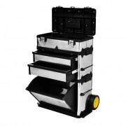 vidaXL Mobilní kufr pro nářadí ze 3 částí