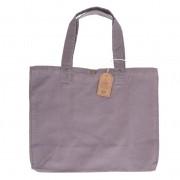 Dille&Kamille Sac cabas, coton bio, gris, 46 x 34 x 18 cm