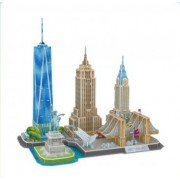 CubicFun New York Skyline 3D Model Kits Puzzle Craft Toys Gift,123 Pieces MC255h-0