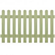 vidaXL Gard din țăruși, lemn de pin tratat, 170x100 cm 6/9 cm