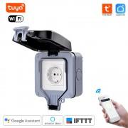 Vonkajšia WiFi vode-odolná zásuvka IP66- Tuya Smart Life