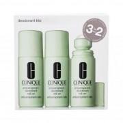 Clinique Deodorant Trio set cadou Antiperspirant-Deodorant Roll-On 3x 75 ml pentru femei