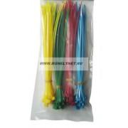 Kábel kötegelõ színes 200x3,6 mm 4 színû csomag