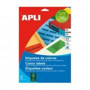 39 Apli Etikette, färger 20 ark 105 x 148 mm Gul