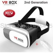 VR BOX Virtual Reality Glasses Headset 3D Google For Smart Phones With Remote